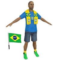 soccer fan 2 3D model