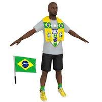 3D soccer fan 3