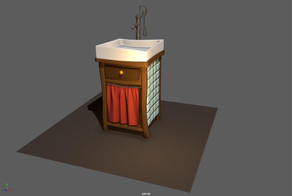 Sink Tap Modell : Sink tap model turbosquid