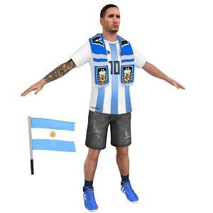 3D soccer fan