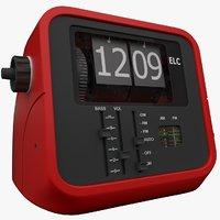 3D retro clock radio