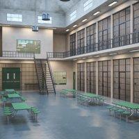 interior scene prison 3D model