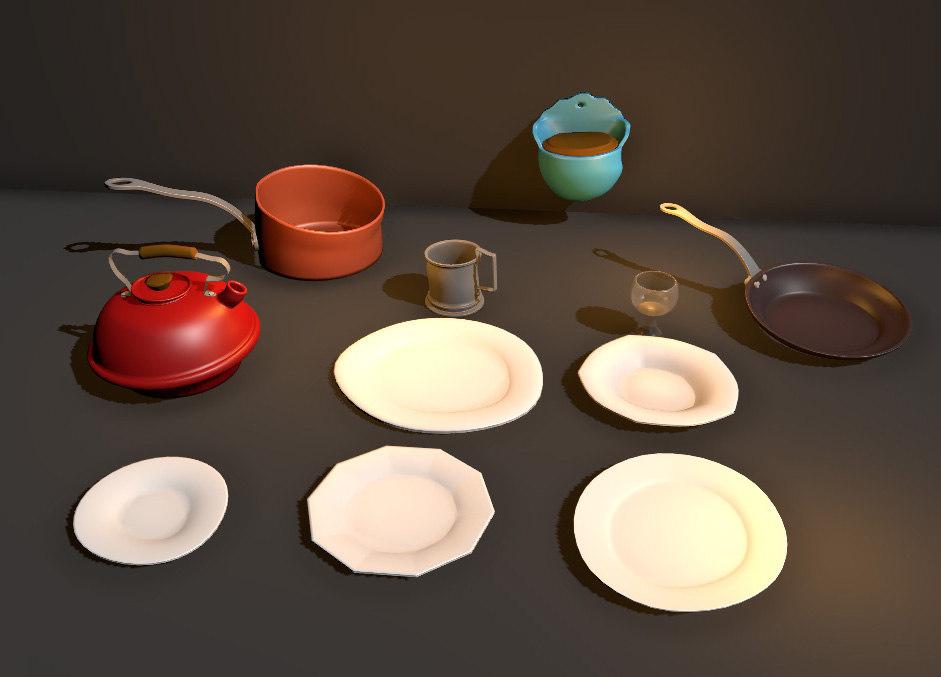 dish salt pot 3D model