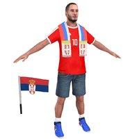 3D soccer fan model