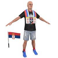 soccer fan 3D model