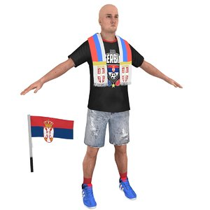 soccer fan 3D model
