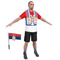 soccer fan 3 3D model