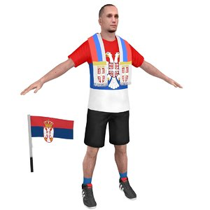 soccer fan 3 3D model