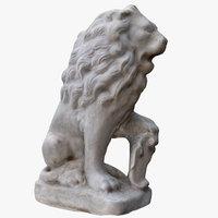 small lion statue 3D model