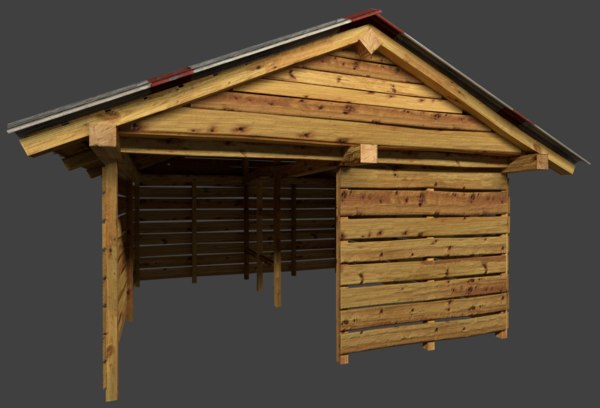 3D shed metal roof