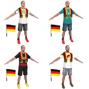3D model soccer man