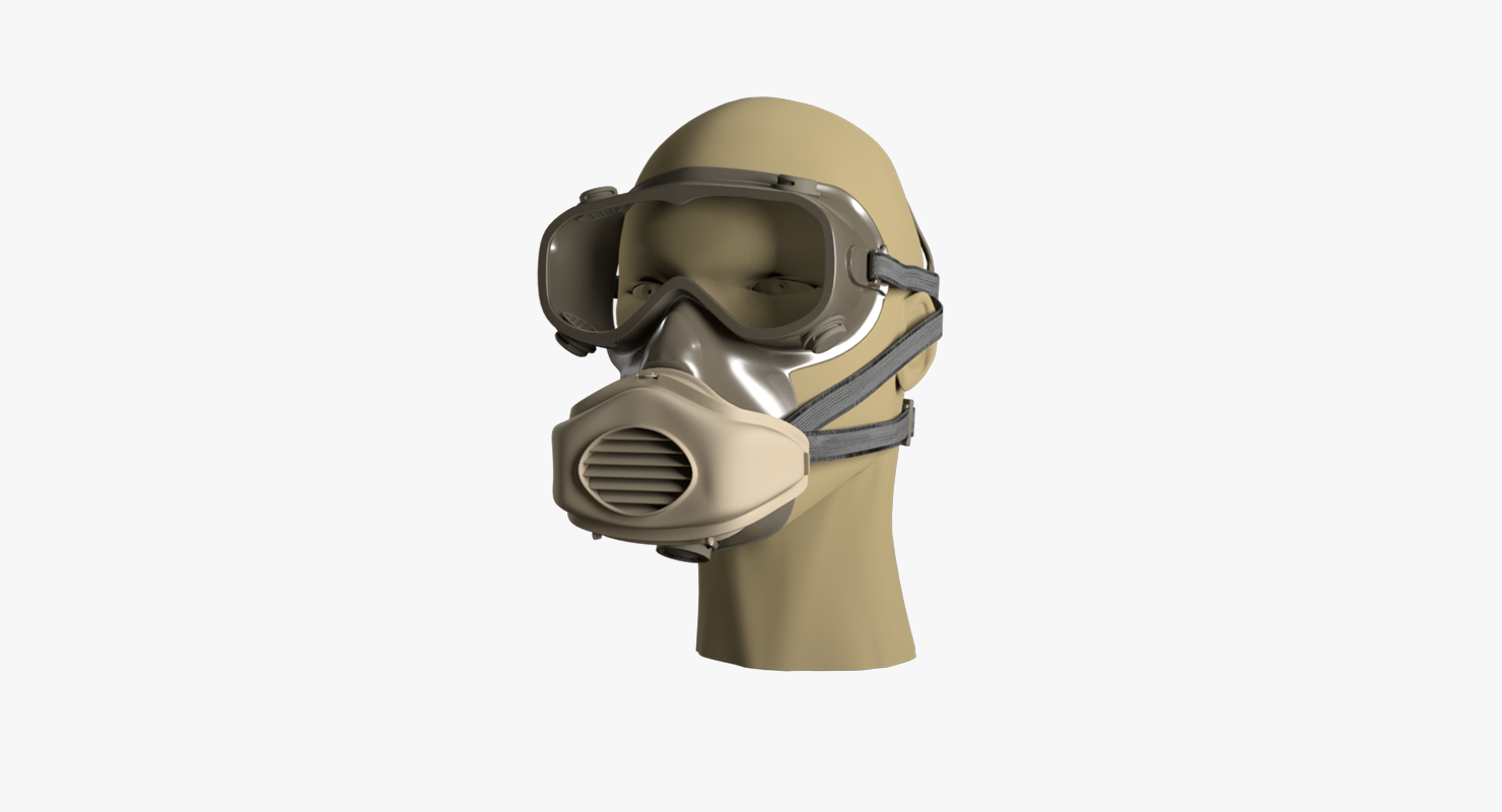 Breathing Respirator Gas Protection Paint Facepiece Reusable Dust Half Mask