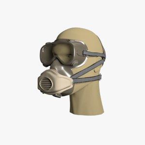 respirator dust mask half 3D model