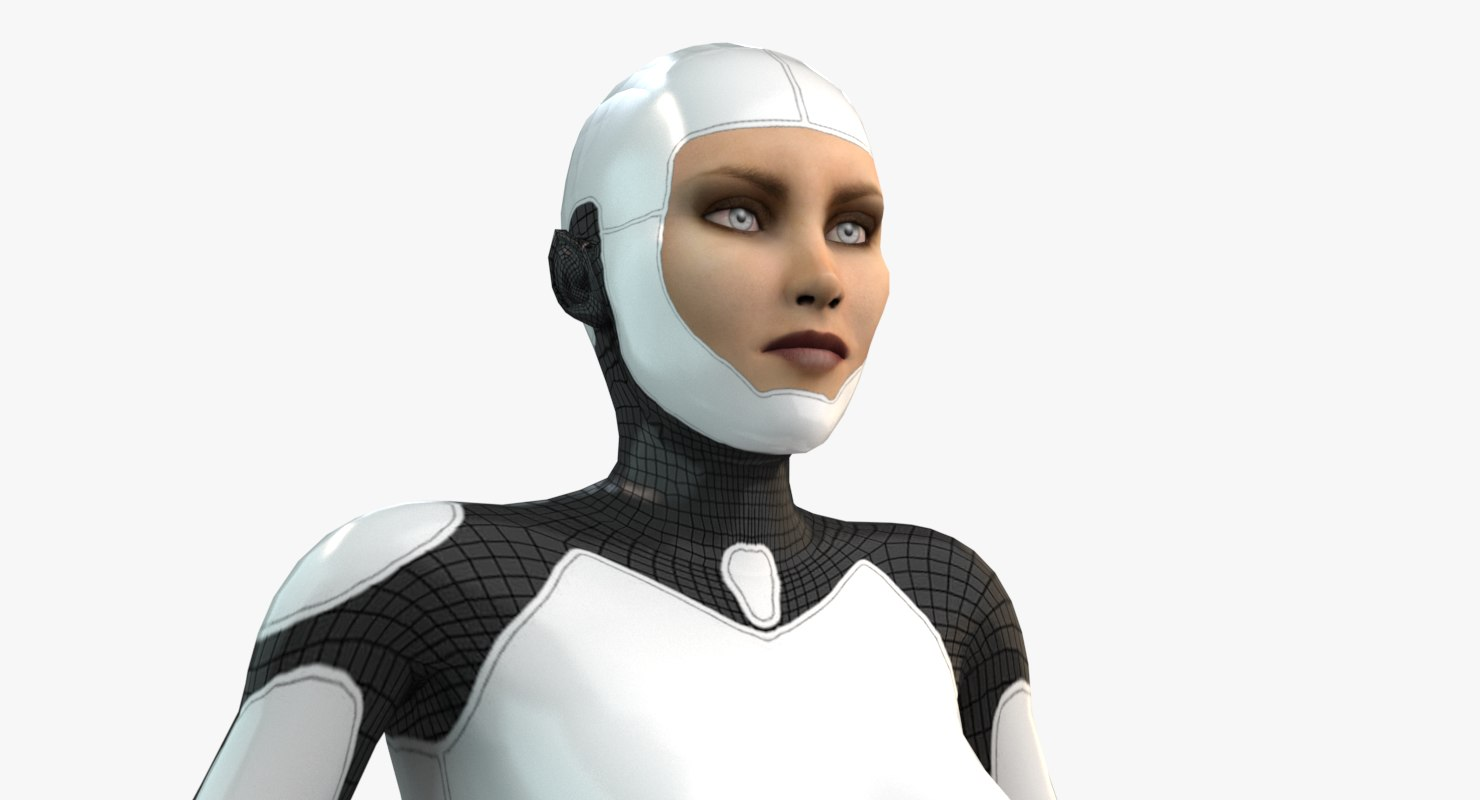 robot animation rigged character 3D