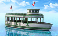 recreational ship 3D model