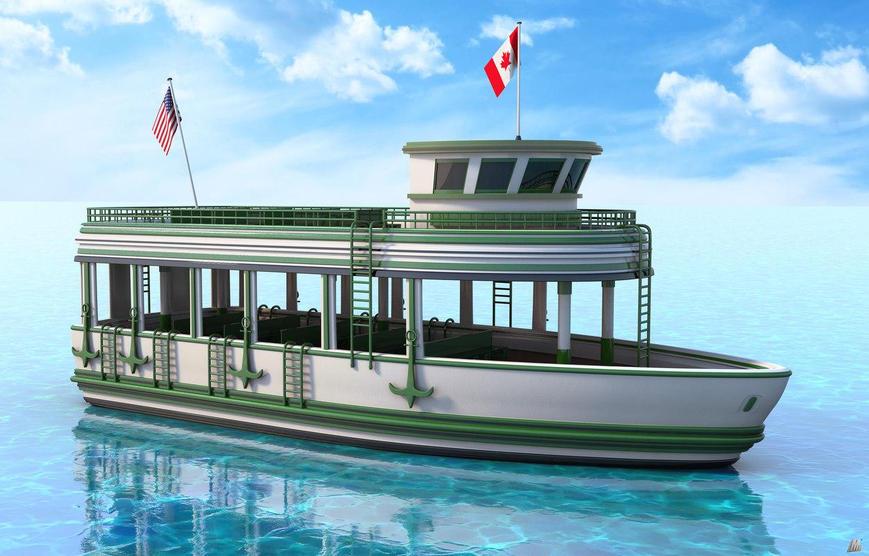 recreational ship 3D model