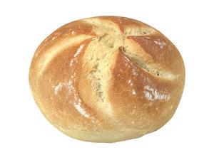 photorealistic scanned semmel bread 3D