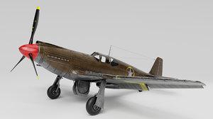 3D model p-51 mustang