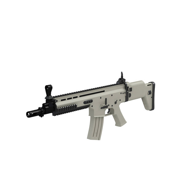 3D combat assault rifle fn scar