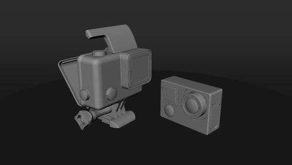 3D gopro camera model