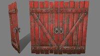 medieval door model