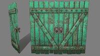 medieval door 3D