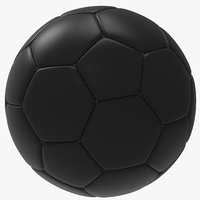 black soccer ball 3D model