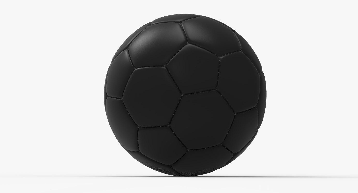 black soccer ball 3D model