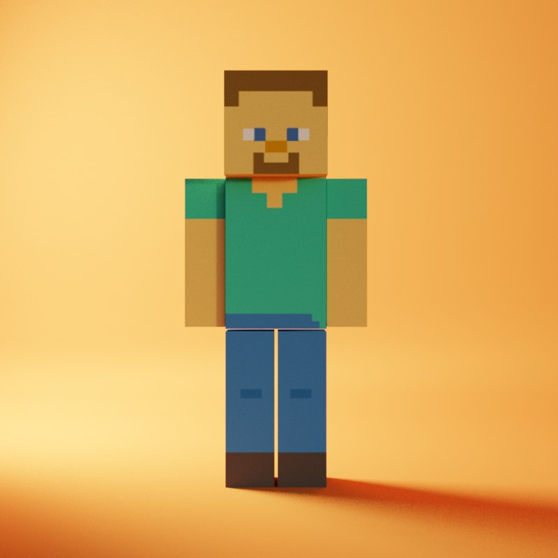 minecraft character 3D model