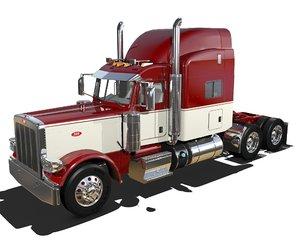 389 semi truck 3D