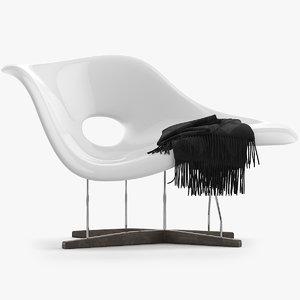 3D vitra la chaise model