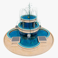 3D realistic lionsgate fountain