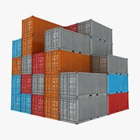 container pile color 2 3D
