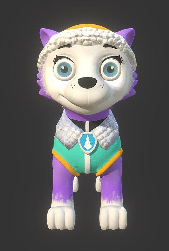 3D everest paw patrol