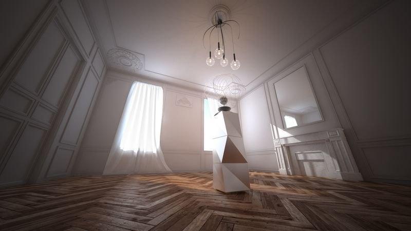 3D model paris haussmann apartment