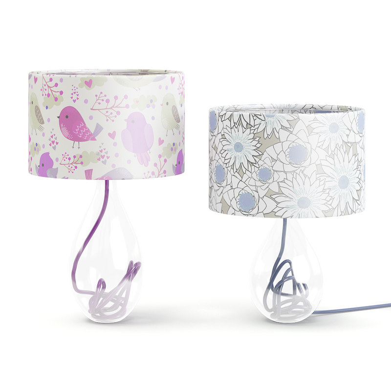 glass table lamps model