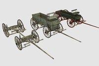 3D wagons civil war model