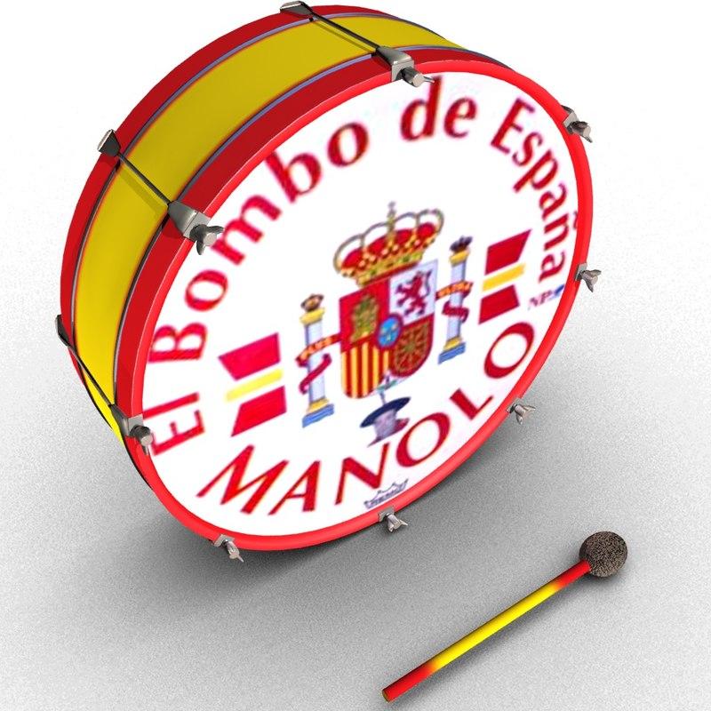 3D spanish drum