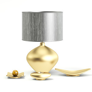 golden lamp decorations 3D model