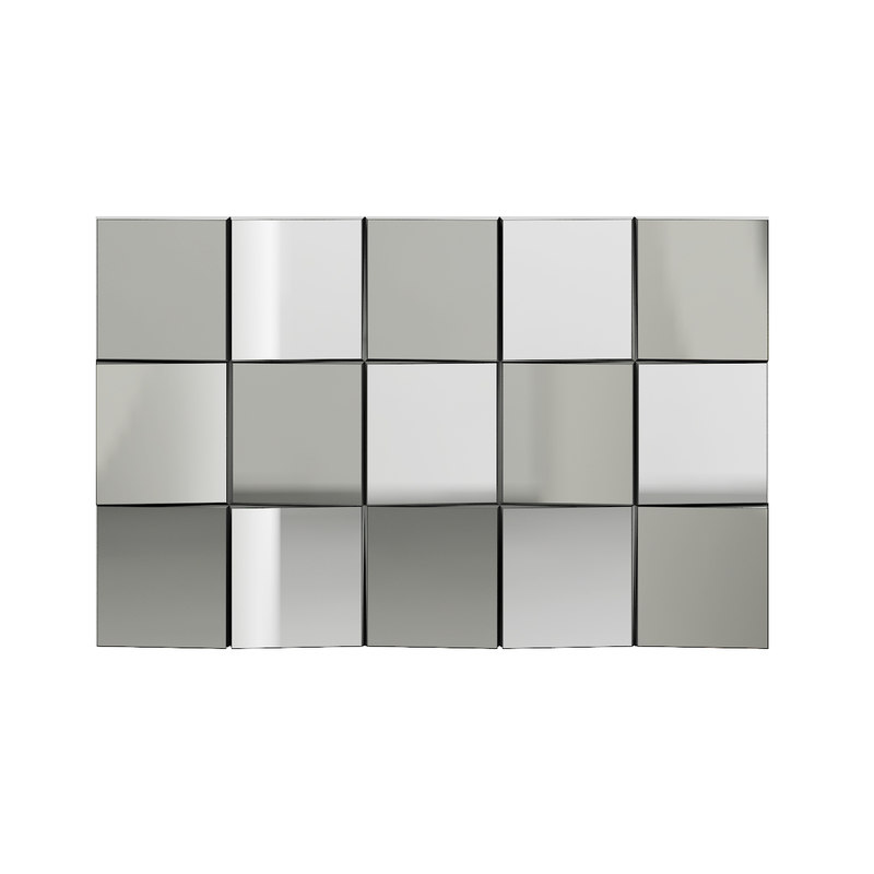 3D rectangular modern style mirror model