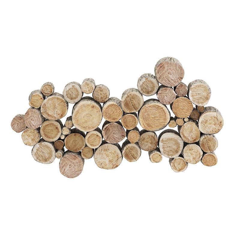 3D model wood logs decoration