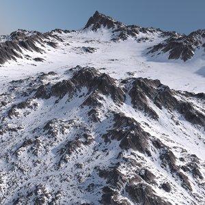 snowy terrain model