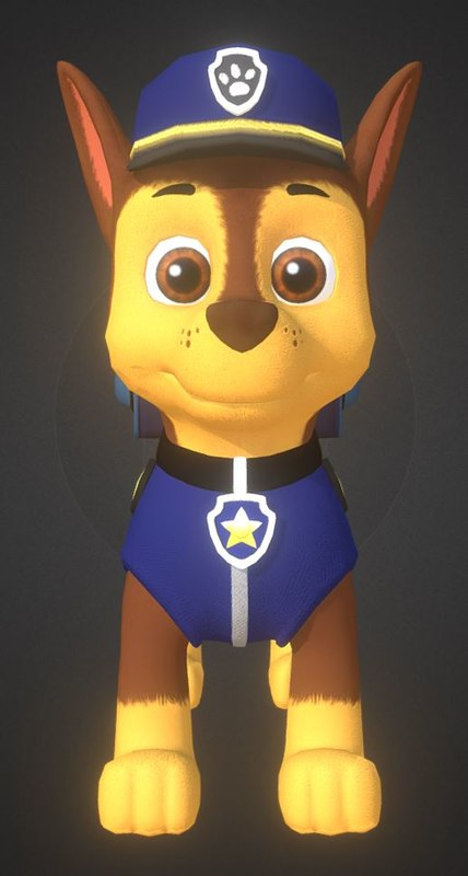 chase paw patrol 3D model