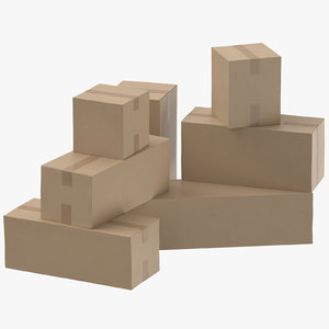 cardboard boxes model