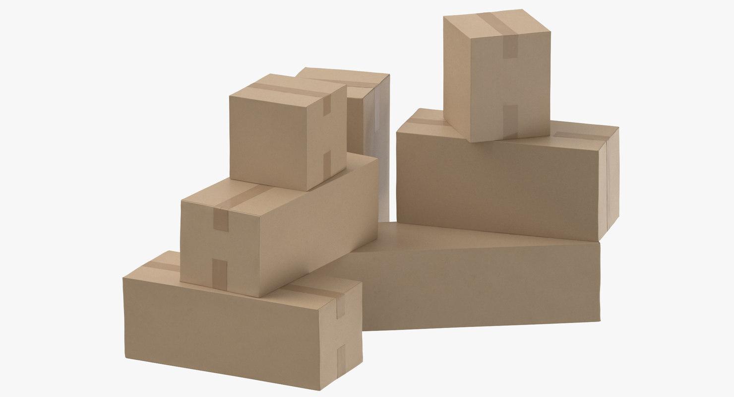 cardboard boxes model