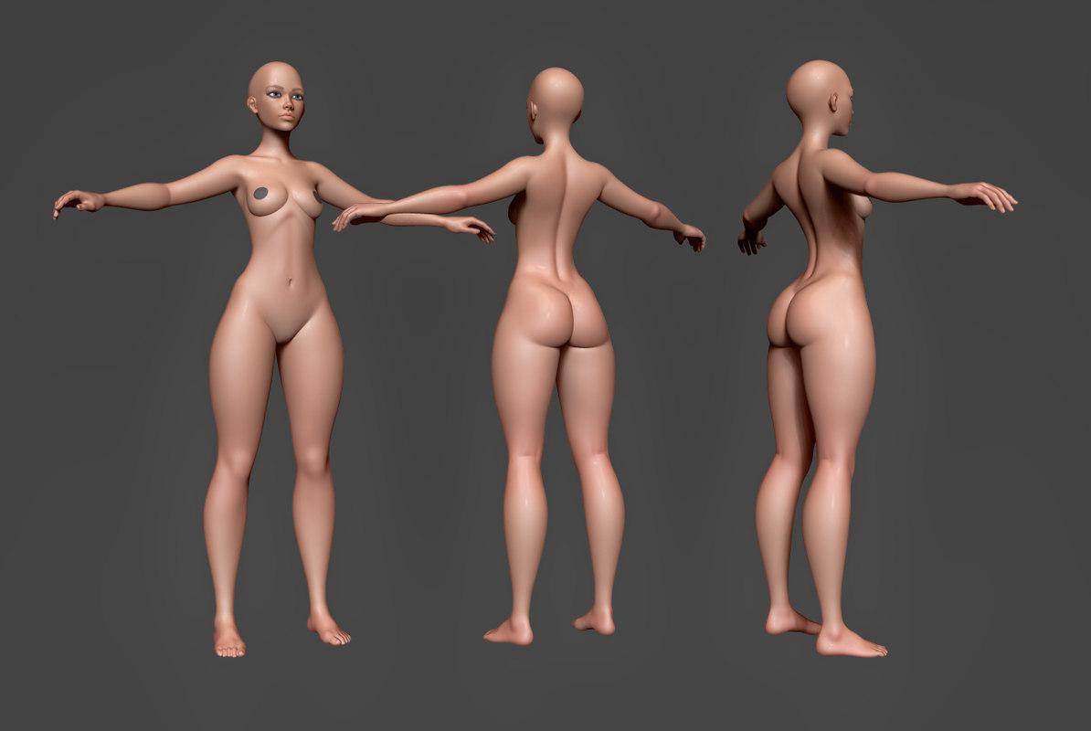 female body base 3D model