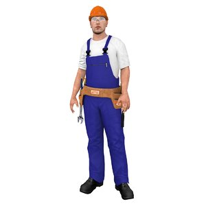 3D rigged worker