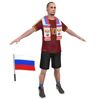 3D soccer fan 3 model