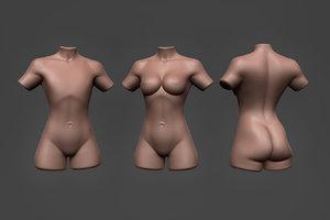female torso 3D