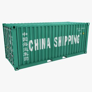3D container 20ft china shipping
